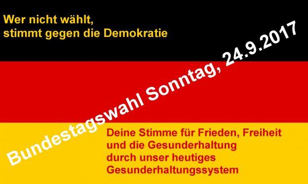 Bundestagswahl – Jeder ab 18 sollte wählen gehen