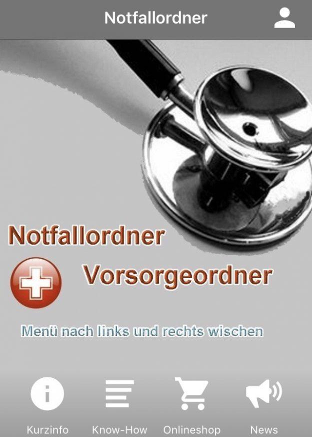 App zum Notfallordner-Vorsorgeordner /Vorsorgevollmacht, Generalvollmacht, Betreuungsverfügung,Sorgerechtsverfügung für minderjährige Kinder, Testament oder Behindertentestament