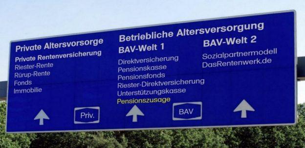 Die Pensionszusage gibt es ausschließlich in der bisherigen bAV-Welt 1