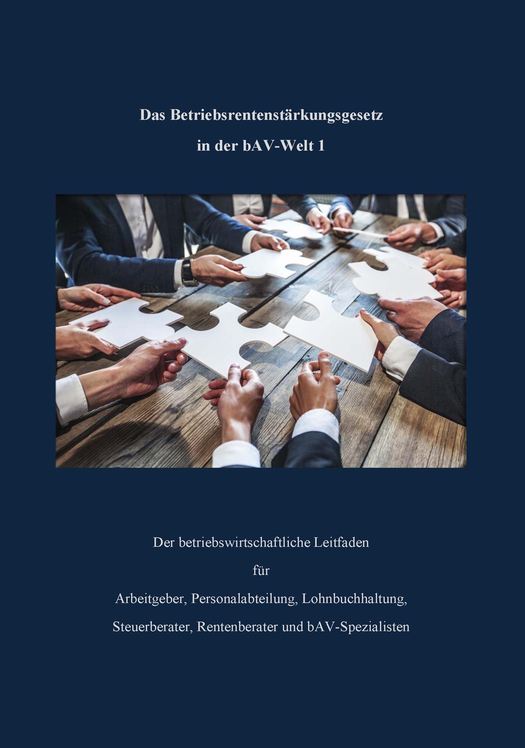 bav-Leitfaden für Arbeitgeber, Personalabteilung, Gehaltsbuchhaltung, HR-Berater, Steuerberater, bav-süezialisten, bAV-Berater, bAV-Experten, Unternehmensberater