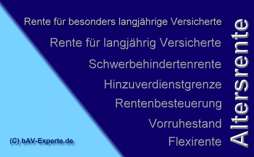 Rentenversicherung bAV-Experte.de