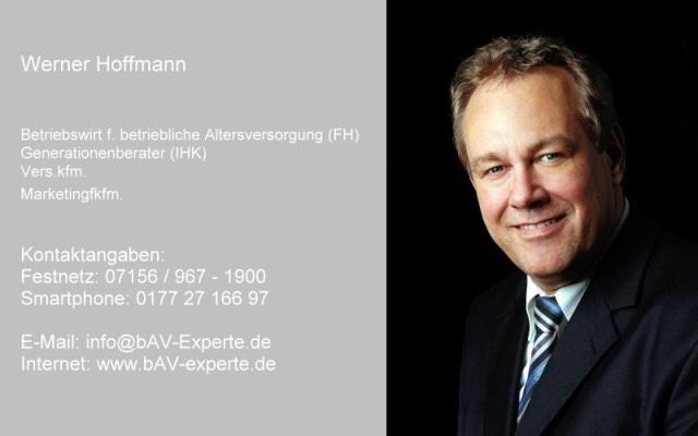 Werner Hoffmann Betriebswirt für betriebliche Altersversorgung, bAV-Experte, Renten-Experte