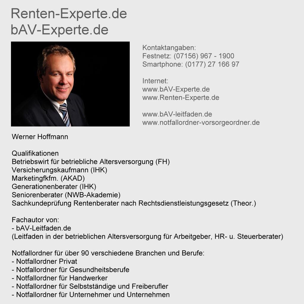 Rentenberater-Renten-Experte.de - bAV-Experte.de Werner Hoffmann