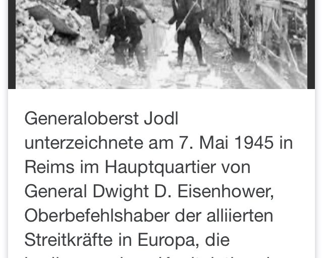 Kriegsende 8.5.1945 – 75 Jahre vorbei
