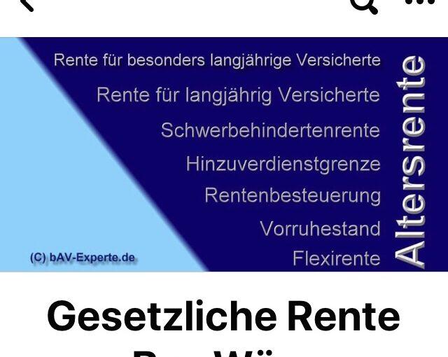 #Grundrente und #bAV-#Förderbeitrag