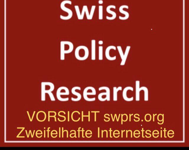 GUV Swiss policy Research – Vorsicht – angeblich in der Schweiz, tatsächlich aber in Deutschland wohl geschrieben, um gegen die Demokratie zu hetzen