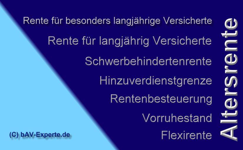 Altersrente in Deutschland