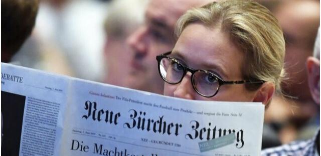 Die NZZ – Neue Züricher Zeitung – ein sehr seltsames Blatt, wohl sehr nahe an der AfD
