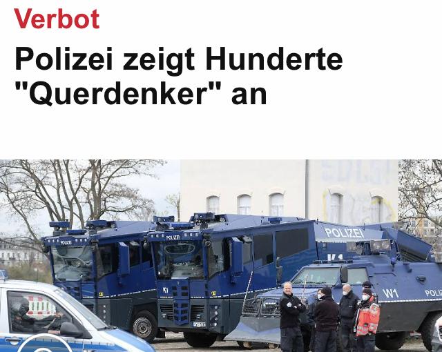 – Querdenker – Die Polizei macht endlich ernst